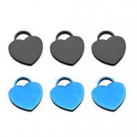 Edelstahl -Herz-Anhänger, plattiert, DIY, keine, 17x20mm, Bohrung:ca. 1mm, 10PCs/Tasche, verkauft von Tasche