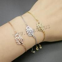 Befestiger Zirkonia Messing Armband, plattiert, verschiedene Stile für Wahl & Micro pave Zirkonia & für Frau, 26mm, 5PCs/Menge, verkauft von Menge