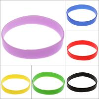 Silikon Armbänder, Kreisring, elastisch & unisex, keine, 12*1.5mm, Länge:ca. 7.5 ZollInch, 10SträngeStrang/Tasche, verkauft von Tasche