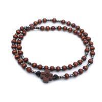 Holz Beten Perlen Armband, mit Zinklegierung, plattiert, unisex, 18cm, verkauft von Strang