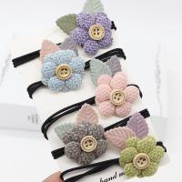 Pferdeschwanz-Halter, Stoff, Blume, Koreanischen Stil & für Frau, keine, 32mm, 10PCs/Menge, verkauft von Menge