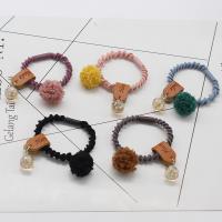 Pferdeschwanz-Halter, Acryl, mit Gummiband & Kristall, verschiedene Stile für Wahl & für Frau, gemischte Farben, 16mm, 10PCs/Menge, verkauft von Menge