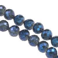 Mode Glasperlen, Glas, DIY & facettierte, blau, 9x10x10mm, Bohrung:ca. 1mm, 60PCs/Strang, verkauft von Strang