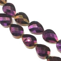 Mode Glasperlen, Glas, Tropfen, DIY & facettierte, violett, 13x10x7mm, Bohrung:ca. 1mm, 50PCs/Strang, verkauft von Strang