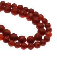 Natürliche Korallen Perlen, Graskoralle, rund, DIY & verschiedene Größen vorhanden, rot, Bohrung:ca. 1mm, verkauft per ca. 14.9 ZollInch Strang