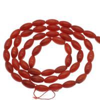 Natürliche Korallen Perlen, Koralle, DIY & verschiedene Größen vorhanden, rot, Bohrung:ca. 1mm, verkauft per ca. 14.9 ZollInch Strang