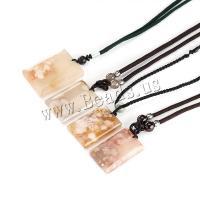 Achat Halskette, poliert, unisex, 29x8x40mm,34x8x45mm,24x7x38mm, verkauft per ca. 14.5 ZollInch Strang