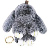 Rex Kaninchen-Pelz Karabiner mit Schlüsselringen, mit Zinklegierung, Hase, plattiert, unisex & verschiedene Größen vorhanden, keine, 190mm, verkauft von PC