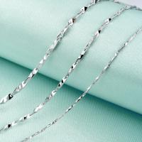 925 Sterling Silber Halskette Kette, 925er Sterling Silber, verschiedene Größen vorhanden, 3PCs/Menge, verkauft von Menge