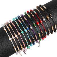 Wachsschnur Woven Ball Armband, mit Seedbead, für Frau, keine, 14-35cm, verkauft von Strang