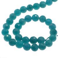 Amazonit Perlen, rund, DIY & facettierte, himmelblau, 10mm, Bohrung:ca. 1mm, ca. 36PCs/Strang, verkauft per ca. 14.9 ZollInch Strang