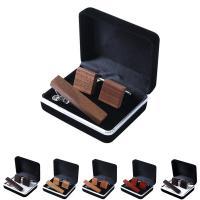 Holz Krawattennadel & Manschettenknopf, mit Messing, verschiedenen Materialien für die Wahl & unisex, 16x16mm, verkauft von setzen
