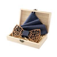 Holz Manschettenknopf & Brosche, mit Stoff, unisex & verschiedene Stile für Wahl, 120x55x5mm, verkauft von setzen