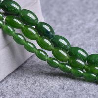 Taiwan Jade Perle, poliert, DIY & verschiedene Größen vorhanden, grün, verkauft per ca. 15 ZollInch Strang