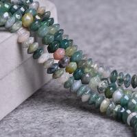 Natürliche Indian Achat Perlen, Indischer Achat, poliert, DIY, gemischte Farben, 4x8mm, ca. 47PCs/Strang, verkauft per ca. 15 ZollInch Strang
