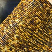 Tigerauge Perlen, Zylinder, poliert, DIY, 2x4mm, ca. 95PCs/Strang, verkauft per ca. 15 ZollInch Strang
