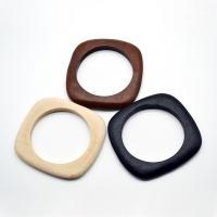 Holz Armbänder, Quadrat, für Frau, keine, 90x9mm, Innendurchmesser:ca. 63mm, 5PCs/Menge, verkauft von Menge