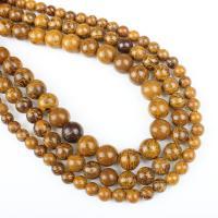Feuerzeug Imperial Jade Perle, rund, verschiedene Größen vorhanden, goldfarben, Bohrung:ca. 1mm, verkauft per ca. 14.9 ZollInch Strang