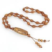 Tibetan Achat Halskette, unisex, erdgelb, 14.5x39.5mm,8.5x12.5mm,103.5mm, verkauft per ca. 26 ZollInch Strang
