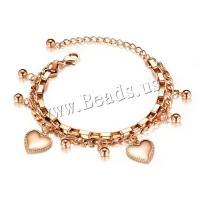 Titan Edelstahl Armband, Titanstahl, plattiert, für Frau, keine, 14x5mm, verkauft per 6.5 ZollInch Strang