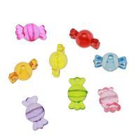 Acryl Schmuck Perlen, Bonbons, DIY & transparent, gemischte Farben, 21*11mm, Bohrung:ca. 2mm, ca. 425PCs/Tasche, verkauft von Tasche
