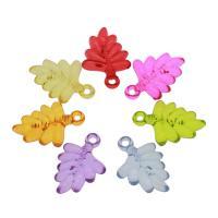 Acryl Anhänger, Baum, DIY & transparent, gemischte Farben, 32x22x6mm, Bohrung:ca. 2mm, ca. 291PCs/Tasche, verkauft von Tasche