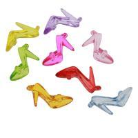 Acryl Anhänger, Schuhe, DIY & transparent, gemischte Farben, 50x30x14mm, Bohrung:ca. 1.5mm, ca. 135PCs/Tasche, verkauft von Tasche