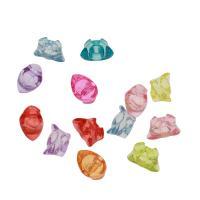 Acryl Anhänger, Barren, DIY & transparent, gemischte Farben, 20x12x14mm, Bohrung:ca. 2mm, ca. 175PCs/Tasche, verkauft von Tasche