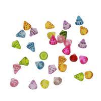 Acryl Anhänger, DIY & transparent, gemischte Farben, 11*9mm, Bohrung:ca. 1.5mm, ca. 1300PCs/Tasche, verkauft von Tasche