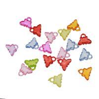 Acryl Anhänger, Schmetterling, DIY & transparent, gemischte Farben, 17x14x5mm, Bohrung:ca. 3mm, ca. 810PCs/Tasche, verkauft von Tasche