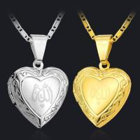 Mode Medaillon Halskette, Messing, für Frau, keine, 45cmuff0c3X 2cm, verkauft von PC