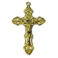 Zinklegierung Kreuz Anhänger, Jesus Kreuz, goldfarben, frei von Nickel, Blei & Kadmium, 34x56x7.5mm, Bohrung:ca. 2mm, 50PCs/Menge, verkauft von Menge