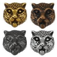 Zinklegierung Tier Perlen, Leopard, plattiert, keine, frei von Nickel, Blei & Kadmium, 10x11x6.5mm, Bohrung:ca. 1.5mm, 100PCs/Menge, verkauft von Menge