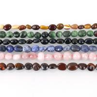 Mischedelstein Perlen, Edelstein, verschiedenen Materialien für die Wahl & verschiedene Größen vorhanden, Bohrung:ca. 1-1.5mm, ca. 52PCs/Strang, verkauft per ca. 16 ZollInch Strang