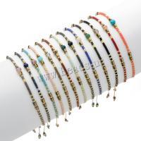Zinklegierung Woven Ball Armbänder, Seedbead, mit Zinklegierung, für Frau, keine, 16-22cm, verkauft von Strang