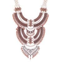 Mode Statement Halskette, Zinklegierung, plattiert, für Frau & mit Strass, keine, frei von Nickel, Blei & Kadmium, 156mm, verkauft von Strang