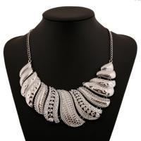 Mode Statement Halskette, Zinklegierung, plattiert, für Frau, keine, frei von Nickel, Blei & Kadmium, verkauft per 19.68 ZollInch Strang