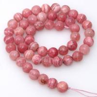Rhodonit Perlen, rund, poliert, DIY & verschiedene Größen vorhanden, rot, 390mm, 5SträngeStrang/Menge, verkauft von Menge