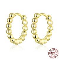 925 Sterling Silber Ohrringe, 925er Sterling Silber, plattiert, für Frau, keine, 12mm, verkauft von Paar