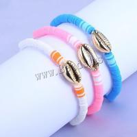 Muschel Schmuck Armband, Armband, Schale, Spritzlackierung, geflochten & einstellbar & für Frau, keine, 12mm, 3SträngeStrang/setzen, verkauft von setzen