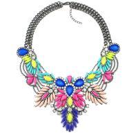 Mode Statement Halskette, Zinklegierung, plattiert, für Frau & mit Strass, keine, verkauft per ca. 19.6 ZollInch Strang