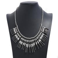 Mode-Fringe-Halskette, Zinklegierung, plattiert, für Frau, keine, frei von Nickel, Blei & Kadmium, 58mm, verkauft per 17.72 ZollInch Strang