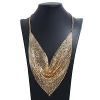 Kragen Halskette, Aluminium, mit Pailletten, plattiert, für Frau, keine, frei von Nickel, Blei & Kadmium, 150mm, verkauft per 19.69 ZollInch Strang
