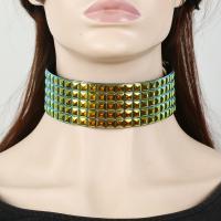 Mode-Halskette, Harz, mit Zinklegierung, plattiert, verschiedene Stile für Wahl & für Frau, keine, verkauft per 18.9 ZollInch Strang