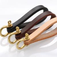 Schlüsselanhänger, PU Leder, mit Messing, goldfarben plattiert, DIY, keine, 90x10x3.5mm,8x25x19mm, verkauft von PC