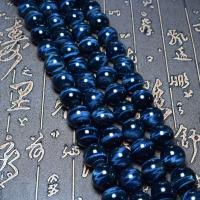 Tigerauge Perlen, rund, verschiedenen Qualitäten für die Wahl & verschiedene Größen vorhanden, blau, verkauft per ca. 16 ZollInch Strang