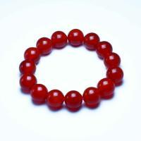 Roter Achat Armbänder, rund, verschiedene Größen vorhanden, rot, verkauft per ca. 7 ZollInch Strang