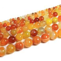Achat Perlen, verschiedene Größen vorhanden, gelb, 400mm, 2SträngeStrang/Menge, verkauft von Menge