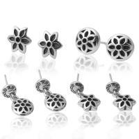 925 Sterling Silber Drop & amp; Ohrringe baumeln, 925er Sterling Silber, plattiert, verschiedene Stile für Wahl & für Frau & Schwärzen, verkauft von Paar
