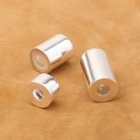 925 Sterling Silber Perlen, 925er Sterling Silber, Rundes Rohr, plattiert, DIY & verschiedene Größen vorhanden, Bohrung:ca. 4mm, verkauft von PC